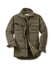 Microfiber Quilted Shirt Jacket