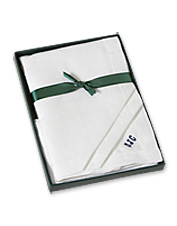 Personalize this Irish Linen Handkerchief Set as a distinctive gift for a loved one.