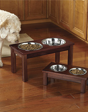 This elevated dog feeder will keep your floors tidy and your dog happy. Made in USA.