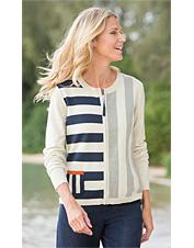 Mixed-Stripe Cardigan