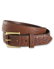 Our men's leather belt will be your go-to accessory of the season.