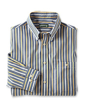 Our wrinkle-free striped shirt ensures a crisp look throughout the day.