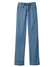 Tencel/Cotton Easy-Waist Slacks
