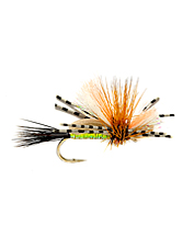 This attractor dry fly imitates a variety of different insects to attract curious trout.