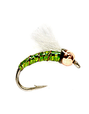Get down to the strike zone in a hurry with these tungsten bead head midges.