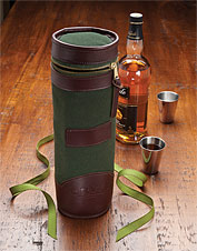 Transport your spirits with our travel bottle holder. Made in USA.
