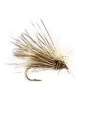 This caddis dry fly sits lower in the water for accurate presentations.