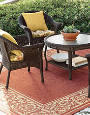 Willowemoc All-Weather Woven Patio Gathering Table Furniture Set