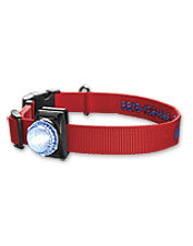 Our dog collar safety light keeps your dog visible in the dark.