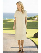 Shoreline Linen Patch-Pocket Dress