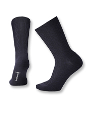 Treat your feet to the cushy feel of elegantly knit, wool-blend Cable Socks by Smartwool.