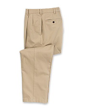 Our pleated wrinkle-free chino pants keep you looking your best all day.