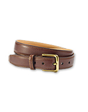 Our leather belts for men pair well with your favorite dress pants. Made in USA.