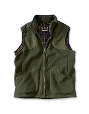 This fleece vest for men is ideal for cool weather on the clays course.