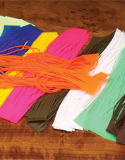 Add a tantalizing wiggle to your fly pattern with these fly tying legs. Made in USA.