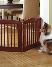Exceptional design and superior performance—our  wooden Panel Zig-Zag Dog Gates offer both.