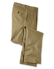 Our Pleated Front Ultimate Khakis earn a comfortable look and feel from meticulous prewashing.