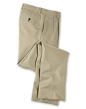 Our pleated front cotton twill khaki pants are as handsome as they are comfortable.