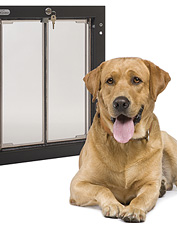 These PlexiDor energy efficient dog doors are safe and secure. Made in USA.