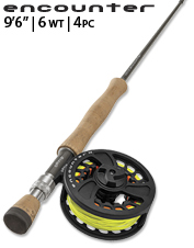 This 6 Wt. affordable fly rod is ideal for bigger freshwater applications.