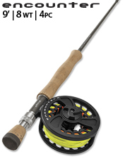 An 8 Wt. affordable fly rod perfect as a first big-game outfit or backup travel rod.