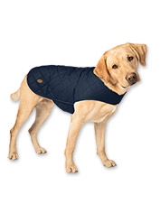 Your dog will appreciate the added warmth of this quilted dog jacket.
