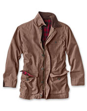 The well-appointed Orvis Classic Barn Coat has a timeworn appeal from its first wearing.