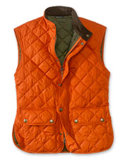 Our men's gilet from Barbour is warm and sophisticated.