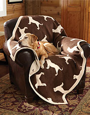 Keep warm and cozy when the weather turns cold with our dog throw blanket.