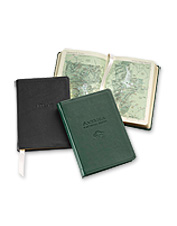 Our leather-bound personalized atlases make a perfect gift for travelers.