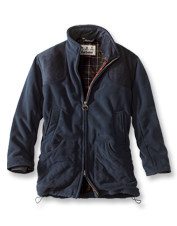 Block extra-stubborn cold, wind, and rain wearing the cozy Dunmoor Fleece Jacket by Barbour.