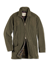 Block extra-stubborn cold, wind, and rain wearing the cozy Dunmoor Fleece Jacket by Barbour.