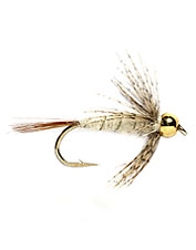 A variation of the hare's ear nymph with a fast-sink tungsten bead and a soft hackle.