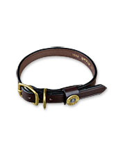 Our fine leather shotshell dog collar and leash are made in the USA.