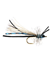 The fluttering Blue Damsel is about the most fun to fish of all stillwater flies.