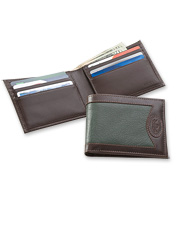 Personalized men's travel wallets make wonderful gifts. Made in USA.