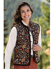 Reversible Autumn Bouquet Vest