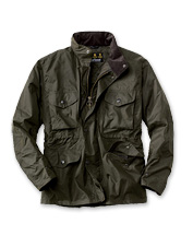 The fetching Barbour Sapper in Sylkoil waxed cotton is a timeless jacket to love.