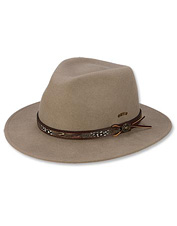 Men's fedora hats from Orvis are designed with impeccable style. Made in USA.