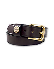 The leather Ultimate Shotshell Belt brings the sporting life into your everyday casual wear.