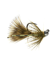 Bounce this tungsten streamer jig along the bottom and hold on.