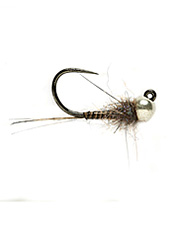 This classic-looking tungsten beadhead nymph jig is ready for action.