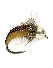 Fish are not likely to pass up this beadhead grub fly when looking for a tasty meal.