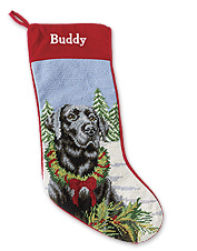 Make them feel like part of the family with our needlepoint Christmas stockings for dogs.