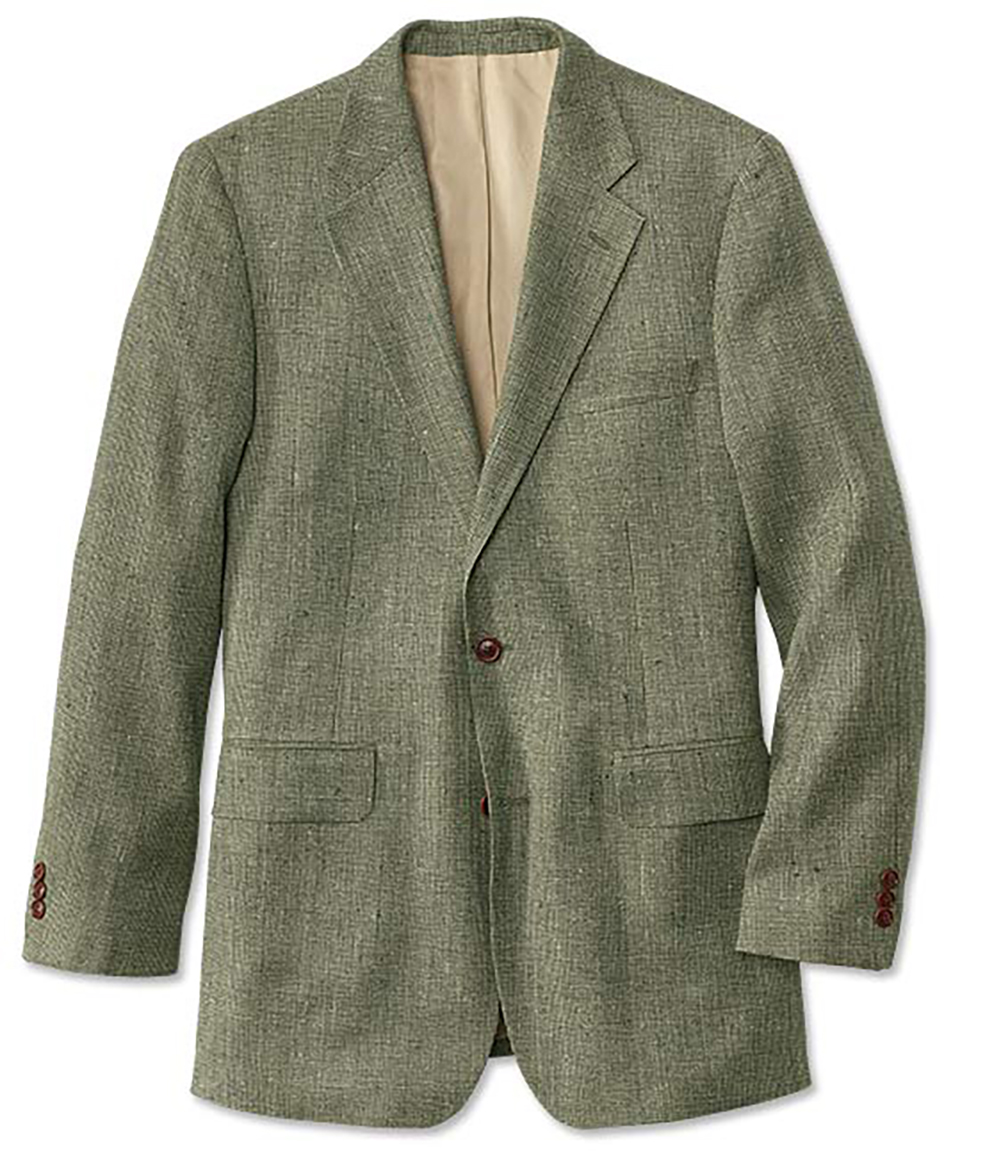 1960s Mens Suits | 70s Mens Disco Suits Silk Tweed Sport Coat  Long Sage 40 $298.00 AT vintagedancer.com